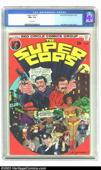 Super Cops, The #1 (Red Circle, 1974) CGC NM+ 9.6 White pages. Gray Morrow cover and art. Overstreet 2002 NM 9.4 value =...