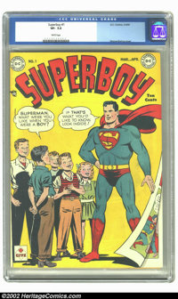 Superboy #1 (DC, 1949) CGC VF- 7.5 White pages. Rare first issue, does not surface in high-grade very often. Overstreet...