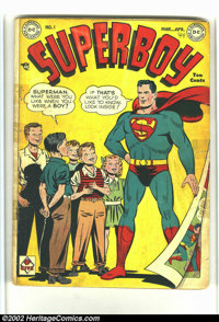 Superboy #1 (DC, 1949) Condition: GD-. Here is what you call a nice looking Good minus. Everything is here, and it looks...
