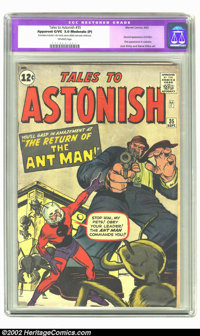 Tales to Astonish #35 (Marvel, 1962) CGC Apparent GD/VG 3.0 Moderate (P) Off-white pages. Second appearance of Ant-Man...