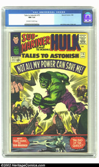 Tales to Astonish #75 (Marvel, 1966) CGC NM 9.4 Off-white to white pages. 1st appearance of Behemoth. Only two copies gr...