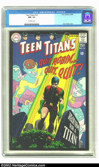 Teen Titans #14 (DC, 1968) CGC NM- 9.2 Off-white pages. Nick Cardy cover. Overstreet 2002 NM 9.4 value = $50
