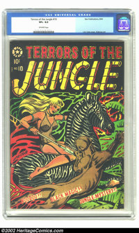 Terrors of the Jungle #10 (Star, 1954) CGC VF+ 8.5 Off-white pages. Beautiful L.B. Cole cover. Last issue. Overstreet 20...
