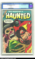 Golden Age (1938-1955):Horror, This Magazine Is Haunted #20 (Charlton, 1954) CGC VF- 7.5 Off-whitepages. Beautiful copy of this pre-Code horror classic. O...