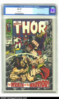 Thor #152 (Marvel, 1968) CGC NM 9.4 Off-white pages. Overstreet 2002 NM 9.4 value = $45