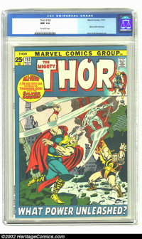 Thor #193 (Marvel, 1971) CGC NM 9.4 Off-white pages. Giant sized book with a Silver Surfer crossover. Overstreet 2002 NM...