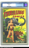 Golden Age (1938-1955):Adventure, Thrilling Comics #63 (Better Publications, 1947) CGC VF 8.0 Off-white pages. Alex Schomburg is the most sought after cover a...