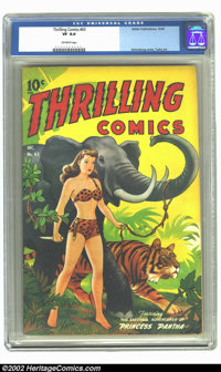 Thrilling Comics #63 (Better Publications, 1947) CGC VF 8.0 Off-white pages. Alex Schomburg is the most sought after cov...