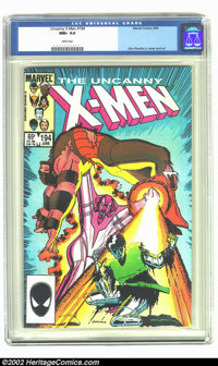 Uncanny X-Men #194 (Marvel, 1985) CGC NM+ 9.6 White pages. John Romita Jr. cover and art. Overstreet 2002 NM 9.4 value =...