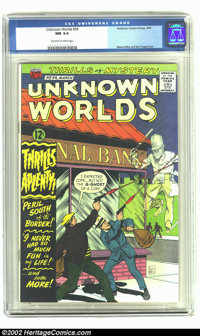 Unknown Worlds #54 (ACG, 1967) CGC NM 9.4 Off-white to white pages. Steve Ditko and Sal Trapani art. Overstreet 2002 NM...