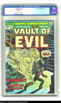 Bronze Age (1970-1979):Horror, Vault of Evil #14 (Marvel, 1974) CGC NM 9.4 Off-white to whitepages. Overstreet 2002 NM 9.4 value = $12. ...