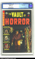 Golden Age (1938-1955):Horror, Vault of Horror #38 Gaines File pedigree 9/12 (EC, 1954) CGC NM/MT9.8 Off-white to white pages. How in the world did this s...