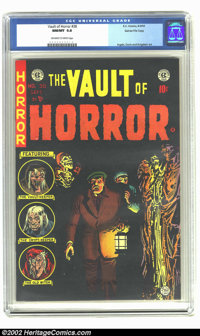 Vault of Horror #38 Gaines File pedigree 9/12 (EC, 1954) CGC NM/MT 9.8 Off-white to white pages. How in the world did th...