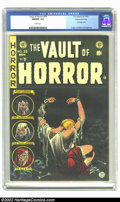 Golden Age (1938-1955):Horror, Vault of Horror #39 Gaines File pedigree 4/12 (EC, 1954) CGC NM/MT9.8 White pages. It is amazing that the dark green backgr...