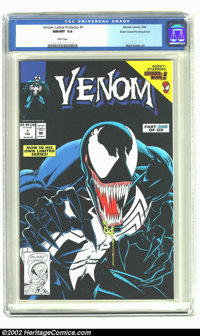 Venom: Lethal Protector #1 Black Cover Variant (Marvel, 1993) CGC NM/MT 9.8 White pages. Overstreet 2002 NM 9.4 value =...