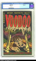 Golden Age (1938-1955):Horror, Voodoo #5 Bethlehem pedigree (Farrell, 1953) CGC VF/NM 9.0Off-white pages. Here is another terrific and undervaluedpre-cod...