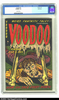 Voodoo #5 Bethlehem pedigree (Farrell, 1953) CGC VF/NM 9.0 Off-white pages. Here is another terrific and undervalued pre...