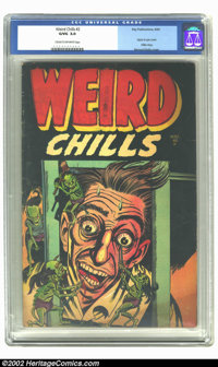 Weird Chills #2 (Key Publications, 1954) CGC GD/VG 3.0 Cream to off-white pages. This book is on everybody's want list...