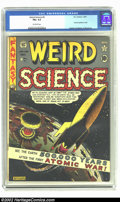 Golden Age (1938-1955):Science Fiction, Weird Science #5 (EC, 1951) CGC FN+ 6.5 Off-white pages. Thisfantastic Feldstein atomic explosion cover is a fan favorite, ...