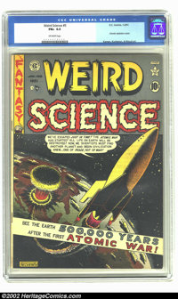 Weird Science #5 (EC, 1951) CGC FN+ 6.5 Off-white pages. This fantastic Feldstein atomic explosion cover is a fan favori...