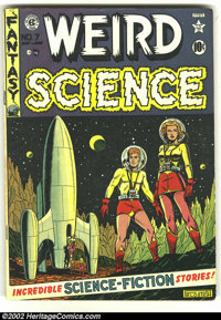 Weird Science #7 (EC, 1951) Condition: VG+. Beautiful Al Feldstein cover. Overstreet 2002 GD 2.0 value = $45; FN 6.0 val...
