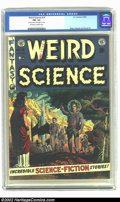 Golden Age (1938-1955):Science Fiction, Weird Science #14 (EC, 1952) CGC FN- 5.5 Off-white to white pages.Sporting a gorgeous Wally Wood cover and interior art by ...