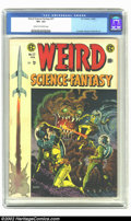 "Golden Age (1938-1955):Science Fiction, Weird Science-Fantasy #27 (EC, 1955) CGC VF+ 8.5 Cream to off-whitepages. Includes ""I, Robot"" story adapted from the origin..."