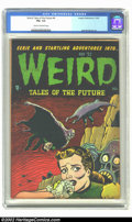 Golden Age (1938-1955):Horror, Weird Tales of the Future #4 (Aragon, 1952) CGC FN+ 6.5 Cream tooff-white pages. The quirky art of Basil Wolverton was feat...