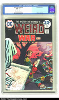 Bronze Age (1970-1979):War, Weird War Tales #25 (DC, 1974) CGC NM 9.4 off-white to white pages.Alfredo Alcala art. Overstreet 2002 NM 9.4 value = $18. ...