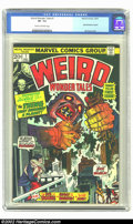 Bronze Age (1970-1979):Horror, Weird Wonder Tales #1 (Marvel, 1973) CGC VF- 7.5 Cream to off-whitepages. Basil Wolverton reprint; Gil Kane cover. Overstre...