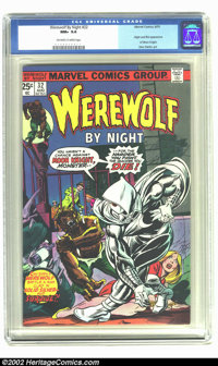 Werewolf by Night #32 (Marvel, 1975) CGC NM+ Off-white to white pages. This issue features the origin and first appearan...