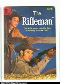 Westerns Lot (Dell, 1960s) Condition: averages GD. Have Gun, Will Travel #6, Four Color #1009 and #1262