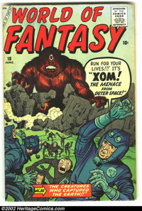 World Of Fantasy #18 (Atlas, 1959) Condition: VG+. Overstreet 2002 GD 2.0 value = $25; FN 6.0 value = $75