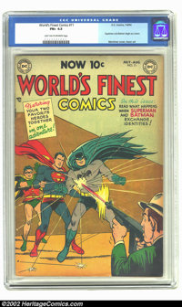 World's Finest Comics #71 (DC, 1954) CGC FN+ 6.5 Light tan to off-white pages. When DC decided to actually make the cove...