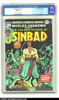 Bronze Age (1970-1979):Science Fiction, Worlds Unknown #7 (Marvel, 1974) CGC NM- 9.2 Off-white to white pages. George Tuska art. Overstreet 2002 NM 9.4 value = $12....