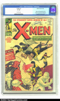X-Men #1 (Marvel, 1963) CGC GD 2.0 Off-white pages. Nice signature by Stan Lee at top of front cover. Origin of X-Men; 1...