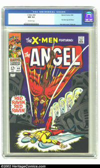X-Men #44 (Marvel, 1968) CGC NM 9.4 Off-white pages. First Silver Age Red Raven. Overstreet 2002 NM 9.4 value = $95