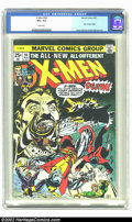 Bronze Age (1970-1979):Superhero, X-Men #94 (Marvel, 1975) CGC VG+ 4.5 White pages. The new X-Men team shoot into battle on the cover of this key Marvel issue...