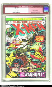 X-Men #95 (Marvel, 1975) CGC VF+ 8.5 Off-white to white pages. Features Colossus, Wolverine, Cyclops, Storm, Banshee, Ni...