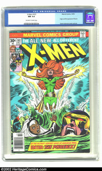 X-Men #101 (Marvel, 1976) CGC NM 9.4 Off-white to white pages. 1st appearance of Phoenix; Juggernaut appearance; Death o...