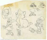 Walt Disney Studios - Production Artwork Photocopies (1970s). A collection of photocopies of character model sheets from...