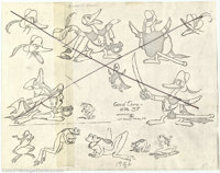 Walt Disney Studios - Donald Duck Production Artwork Photocopies (1970s). A collection of photocopies of character model...