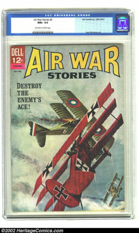 Air War Stories #2 (Dell, 1965) CGC NM+ 9.6 Off-white to white pages. Sam Glanzman art. Overstreet 2002 NM 9.4 value = $...