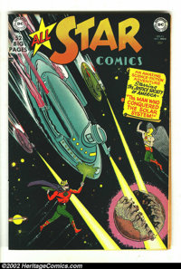 All Star Comics #55 (DC, 1950) Condition: VF/NM. Here is a beautiful, and rare book. CGC could not encapsulate this book...