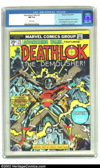 Astonishing Tales #25 (Marvel, 1974) CGC NM 9.4 White pages. First appearance of Deathlok; first George Perez artwork (l...