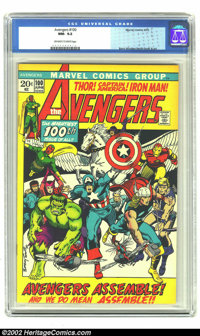 The Avengers #100 (Marvel, 1972) CGC NM- 9.2 Off-white to white pages. Barry Windsor-Smith cover and art. Overstreet 200...