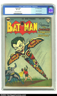 Batman #66 (DC, 1951) CGC VF- 7.5 Cream to off-white pages. Joker cover and story. Overstreet 2002 VF 8.0 value = $511...