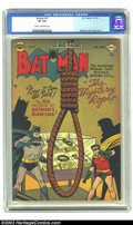 Golden Age (1938-1955):Superhero, Batman #67 (DC, 1951) CGC VF 8.0 Cream to off-white pages. Win Mortimer cover. Dick Sprang art. Overstreet 2002 VF 8.0 value...
