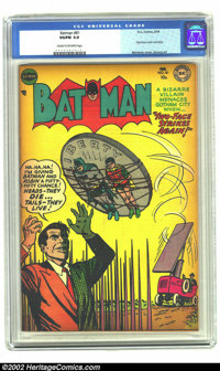 Batman #81 (DC, 1954) CGC VG/FN 5.0 Cream to off-white pages. Two-Face cover and story. Overstreet 2002 GD 2.0 value = $...
