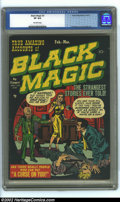 Golden Age (1938-1955):Horror, Black Magic #3 (Prize, 1951) CGC VF 8.0 Off-white pages. Simon andKirby cover and art. Overstreet 2002 VF 8.0 value = $270....